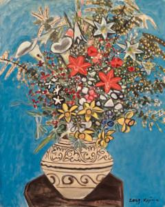 児島善三郎|花|1959年|30号|第27回独立美術展出品